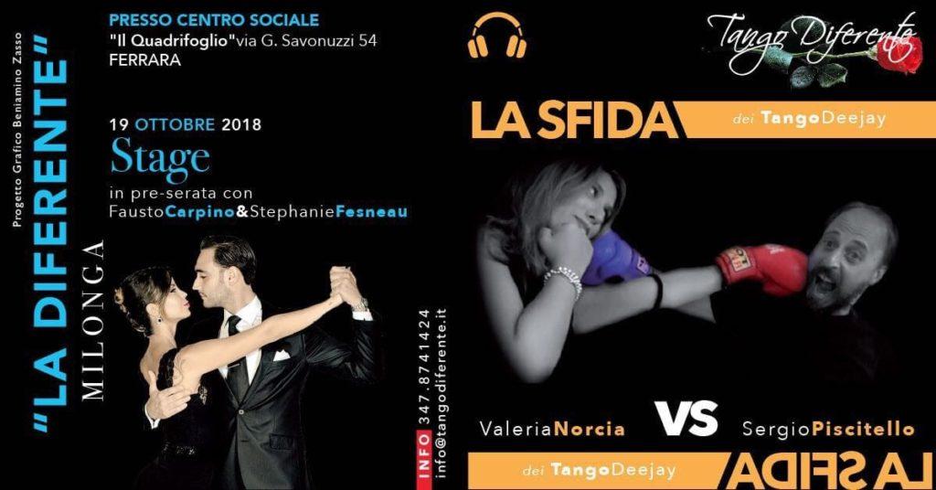 """La Diferente - Milonga con Norcia vs Piscitello Stage preserata @ Centro Sociale """"Il Quadrifoglio"""""""