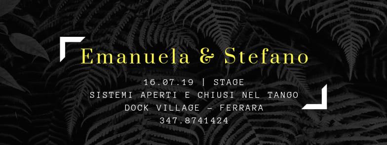 Seminario Estivo con Emanuela & Stefano @ Centro Dock Village Ferrara
